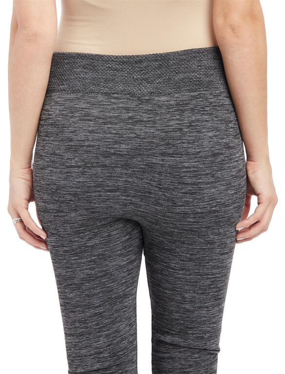 No Belly Belly Maternity Leggings- Grey Spacedye, Grey Space Dye
