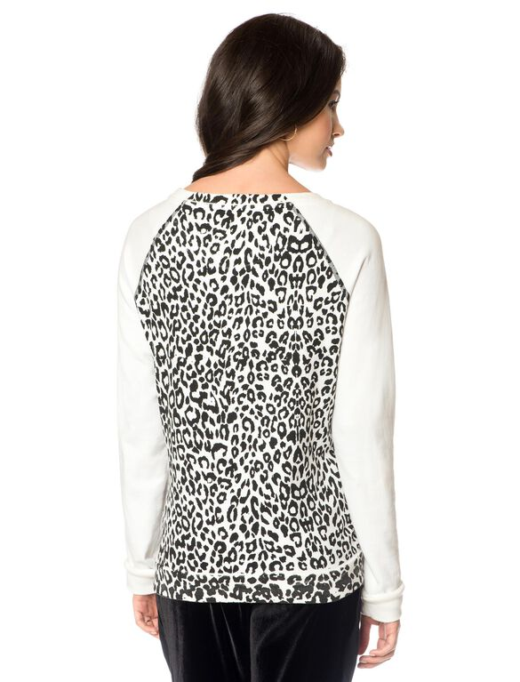 Maternity Sweatshirt, Leopard Print