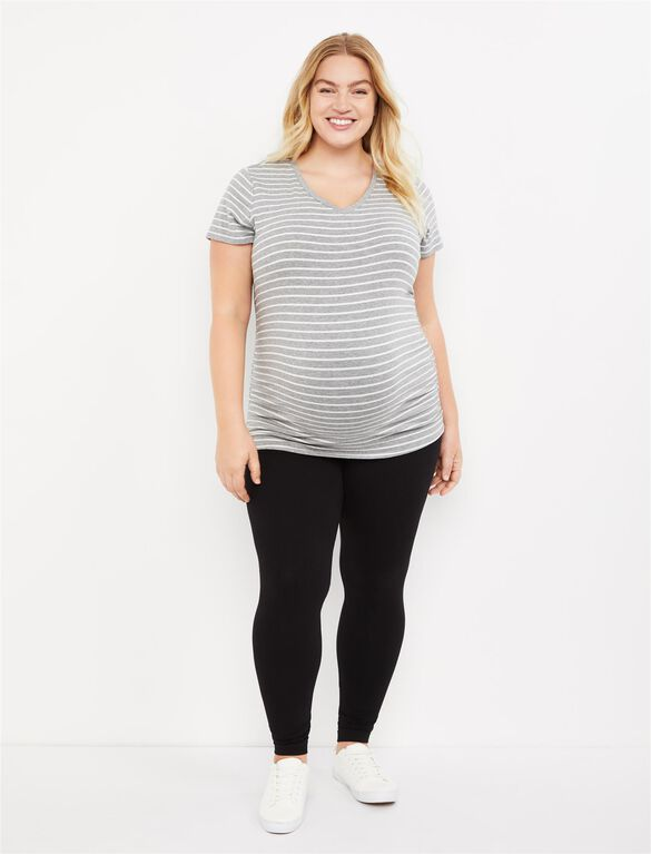 Plus Size Secret Fit Belly Maternity Leggings, Black