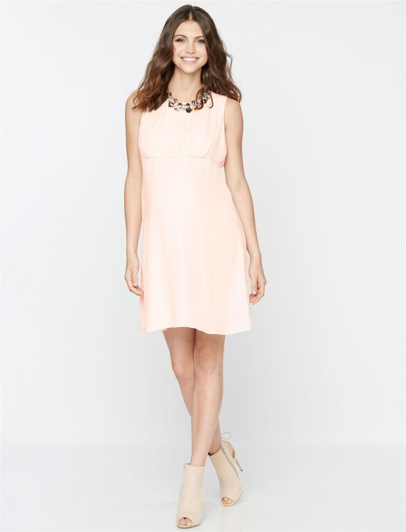 Sleeveless Maternity Dress, Blush Pink