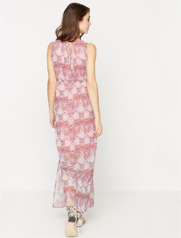 Maternity Sleeveless Maxi Dress, Multi Print