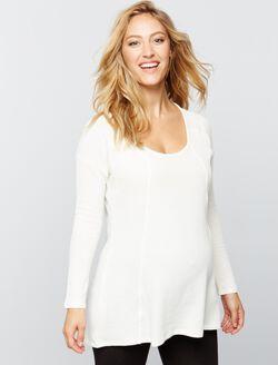Stitch Detail Maternity Top, Soft White