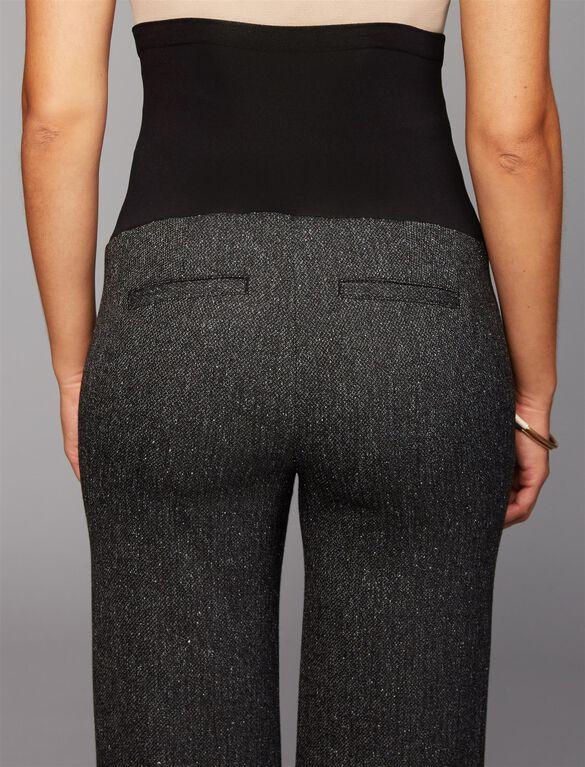 Secret Fit Belly Novelty Stitch Boot Cut Maternity Pants, Bkack