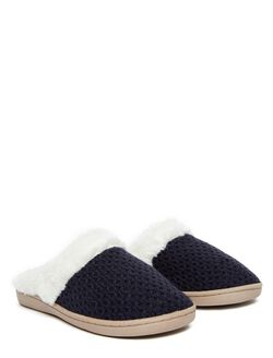 Slide Slippers, Navy