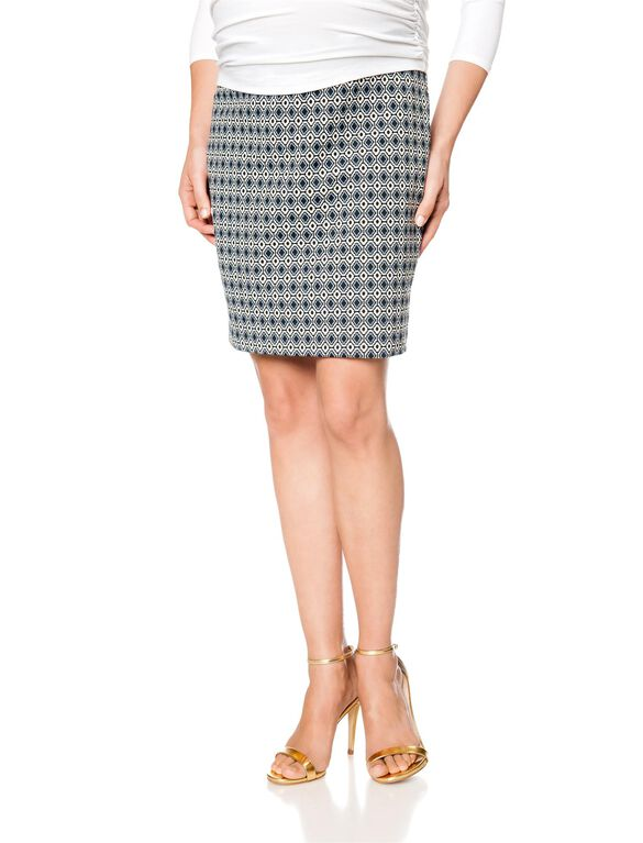 Isabella Oliver No Belly Maternity Skirt, Printed