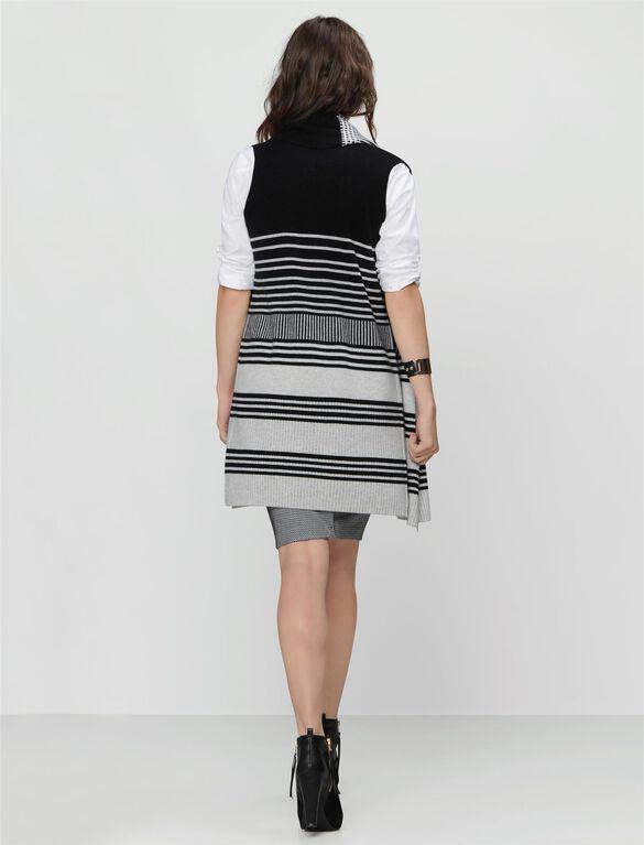Vince Cotton Maternity Vest, Black/Off White