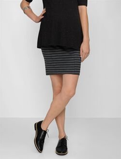 Secret Fit Belly Pencil Fit Maternity Skirt, Black/Gray