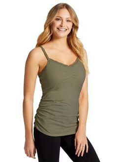 Jessica Simpson Clip Down Shelf Bra Nursing Cami- Print, Sea Spray