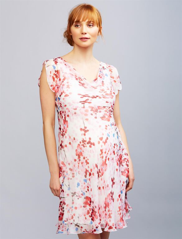 Seraphine Luxe Lizzie Maternity Dress, Red/White Floral
