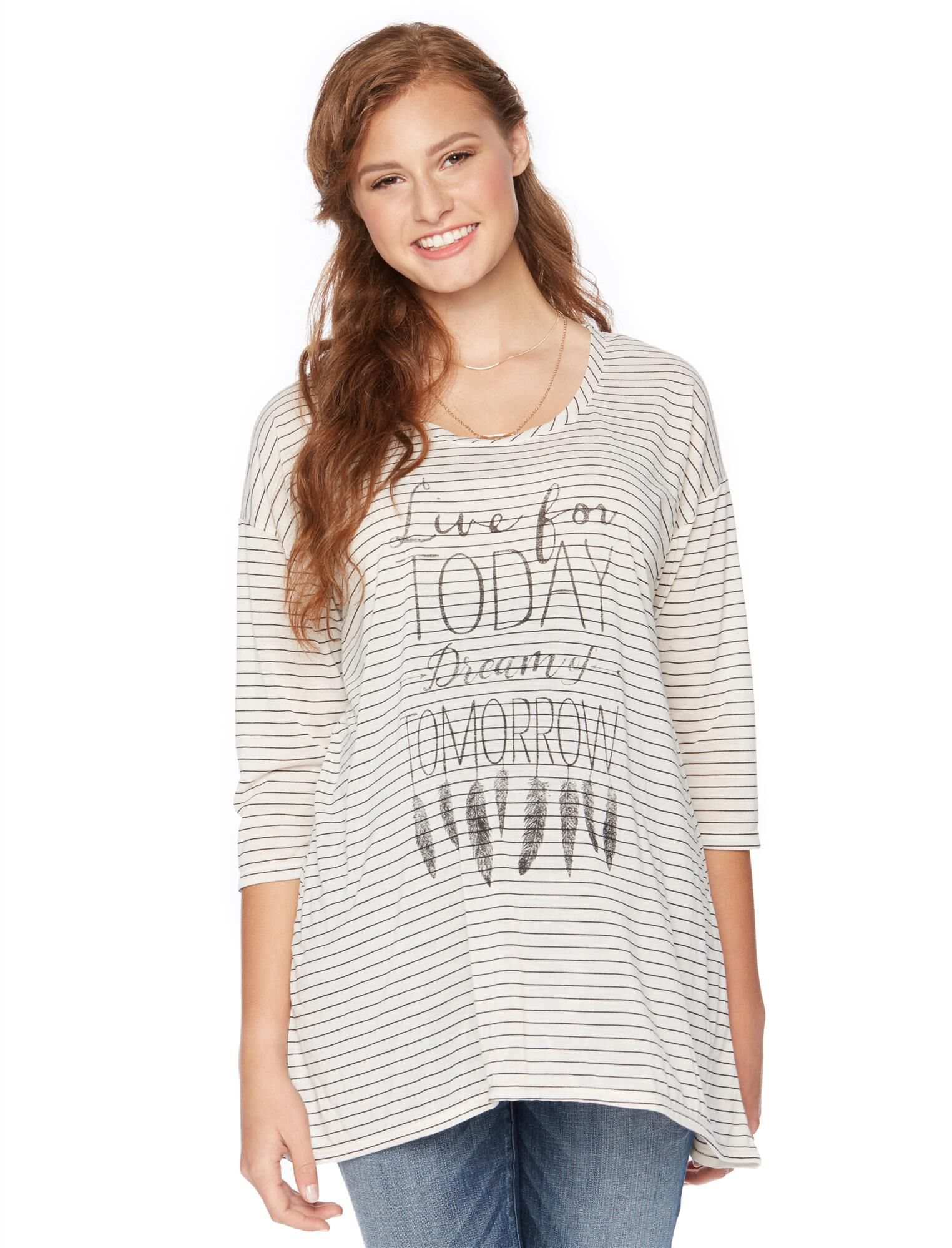 Wendy Bellissimo Live for Today Dream for Tomorrow Maternity Top