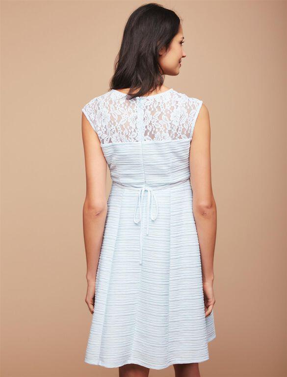 Lace Detail Maternity Dress, Glacier Blue