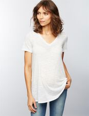 A-line Maternity Tee, Antique Blush
