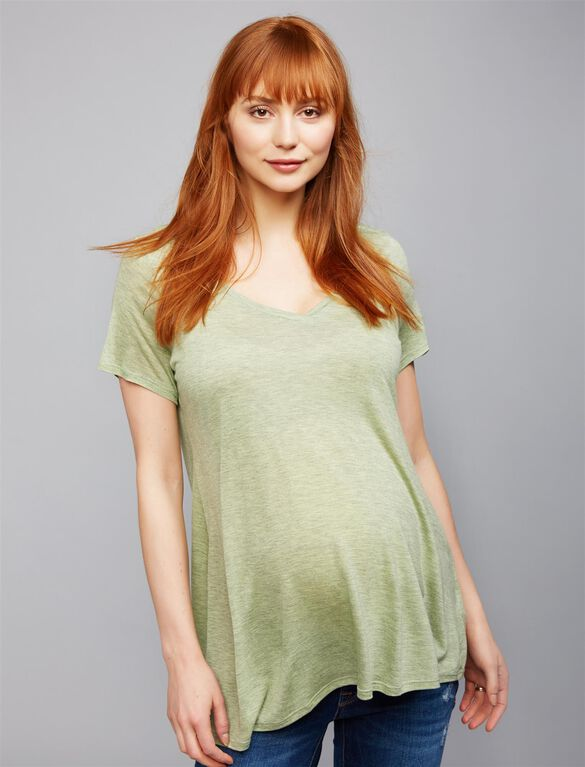 A-line Maternity Tee, Citrine