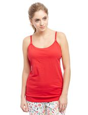Clip Down Nursing Cami- Solid, Tango Red
