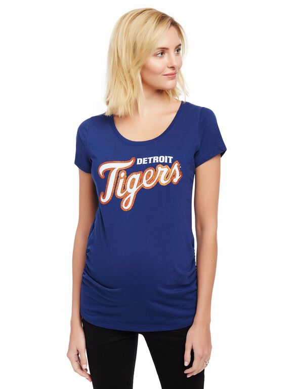 Detroit Tigers MLB You're Out Maternity Tee, Tigers Navy
