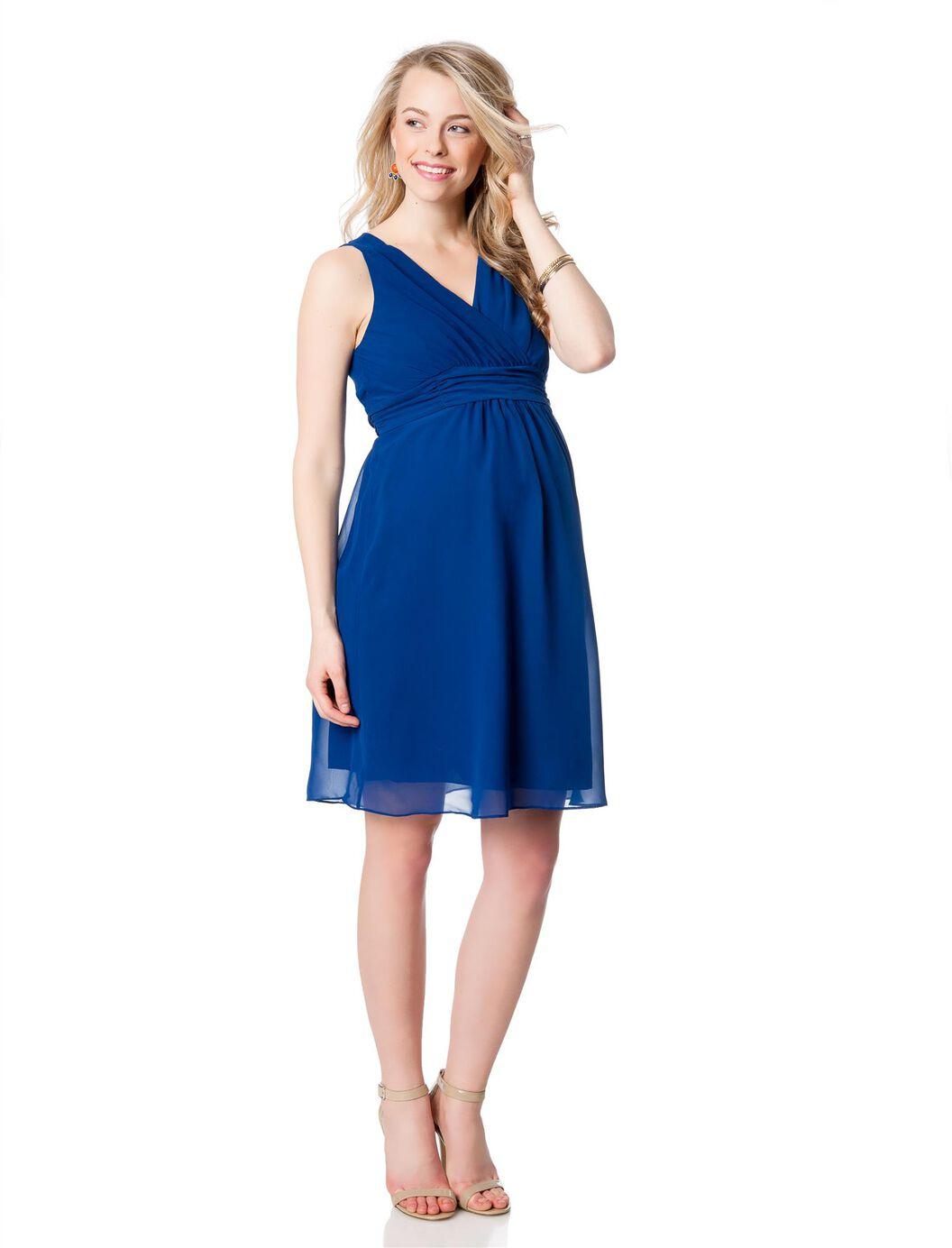 Pleated maternity dress motherhood maternity pleated maternity dress cobalt ombrellifo Choice Image