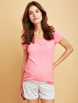 Pocket Tee Maternity T Shirt, Strawberry
