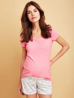Pocket Tee Maternity T Shirt, Strawberry