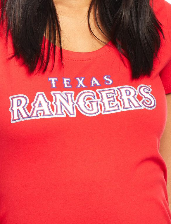 Texas Rangers MLB You're Out Maternity Tee, Rangers Red
