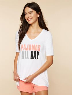 Pajamas All Day Nursing Sleep Top, White