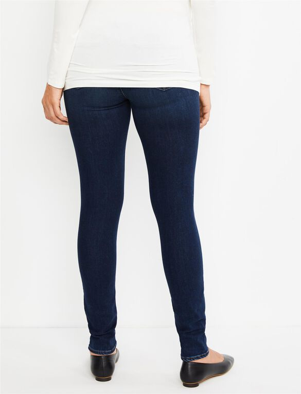 J Brand Under Belly Mama J Super Skinny Maternity Jeans- Fleeting, Dark Wash
