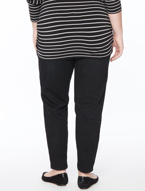 Plus Size Destructed Skinny Maternity Jean, Black