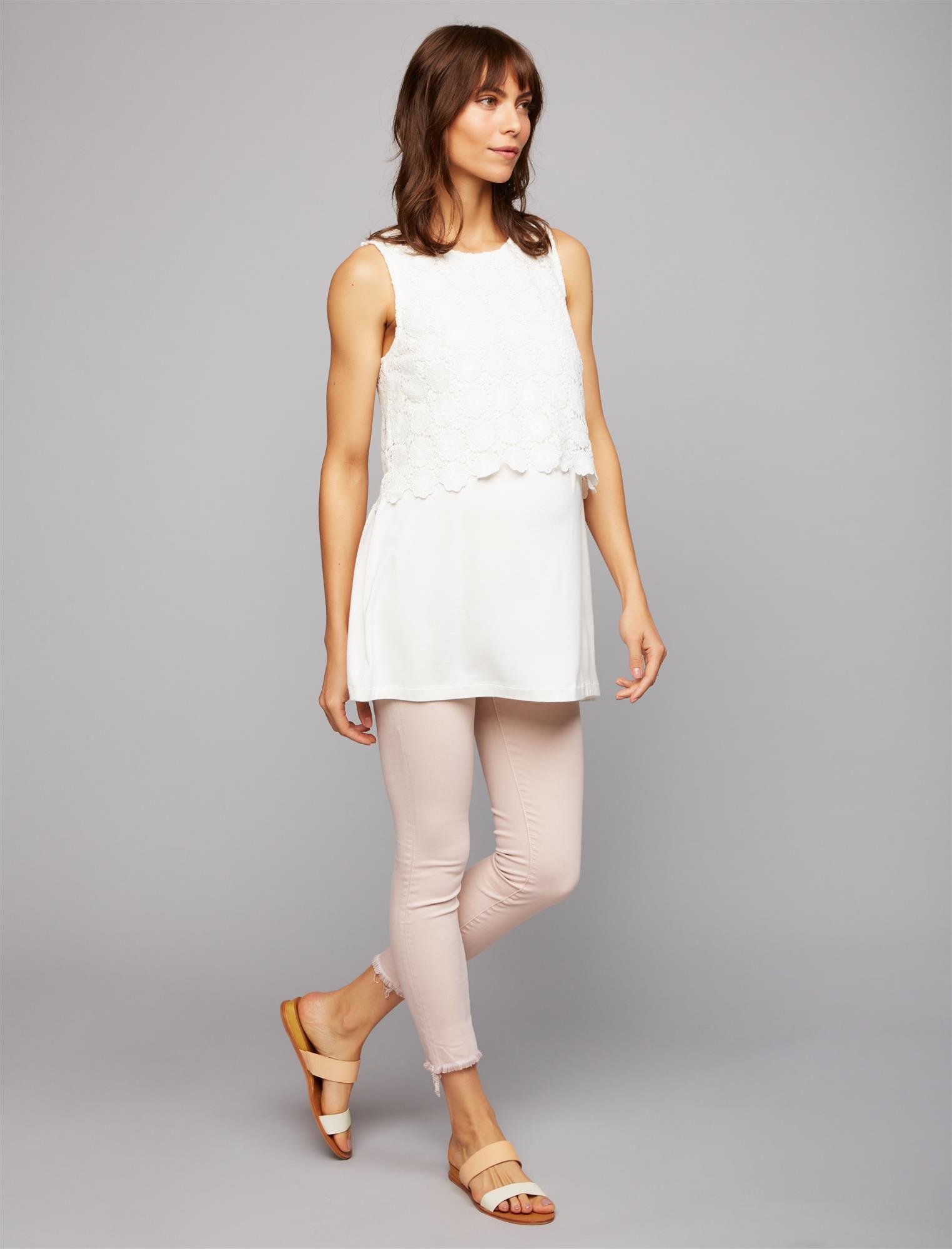 Articles Of Society Secret Fit Belly Fray Hem Maternity Jeans- Pink
