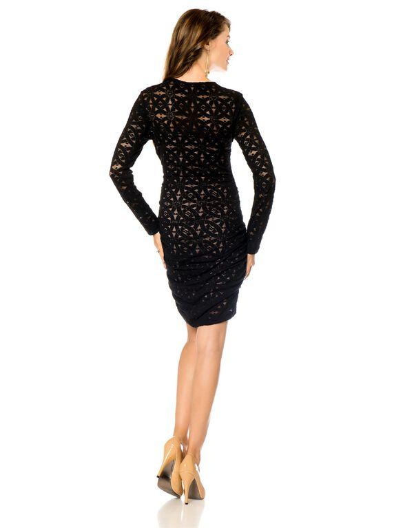 Bcbgmaxazria Zipper Detail Maternity Dress, Black