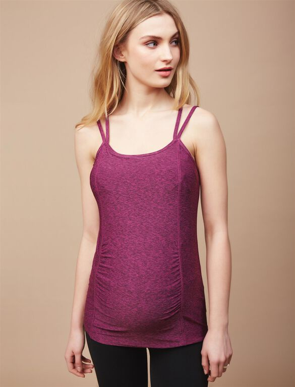 Ruched Maternity Cami, Purple