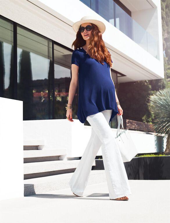 Rachel Zoe Secret Fit Belly Flare Maternity Jean, White