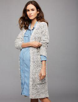 Ripe Textured Maternity Cardigan, Print