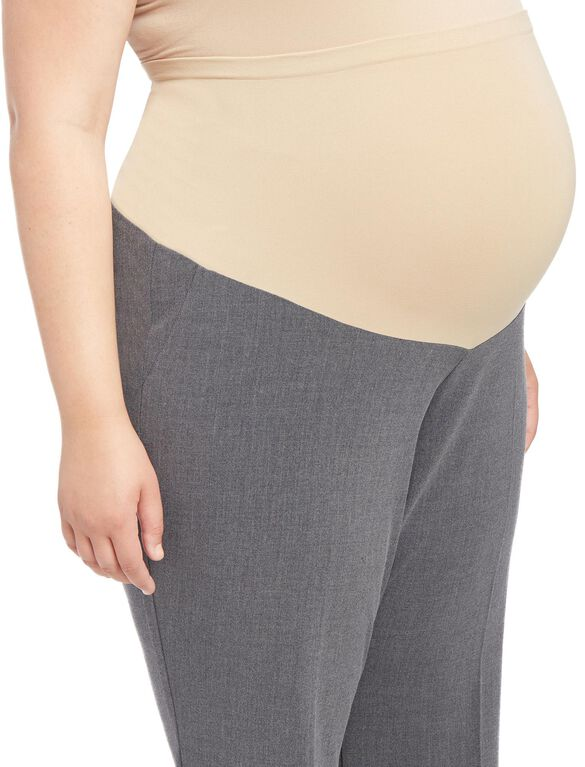 Plus Size Secret Fit Belly Boot Cut Suiting Maternity Pants- Charcoal, Charcoal