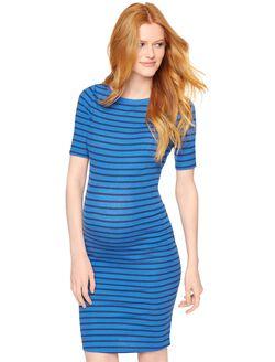BCBGMAXAZRIA Briza Maternity Dress, Blue Stripe