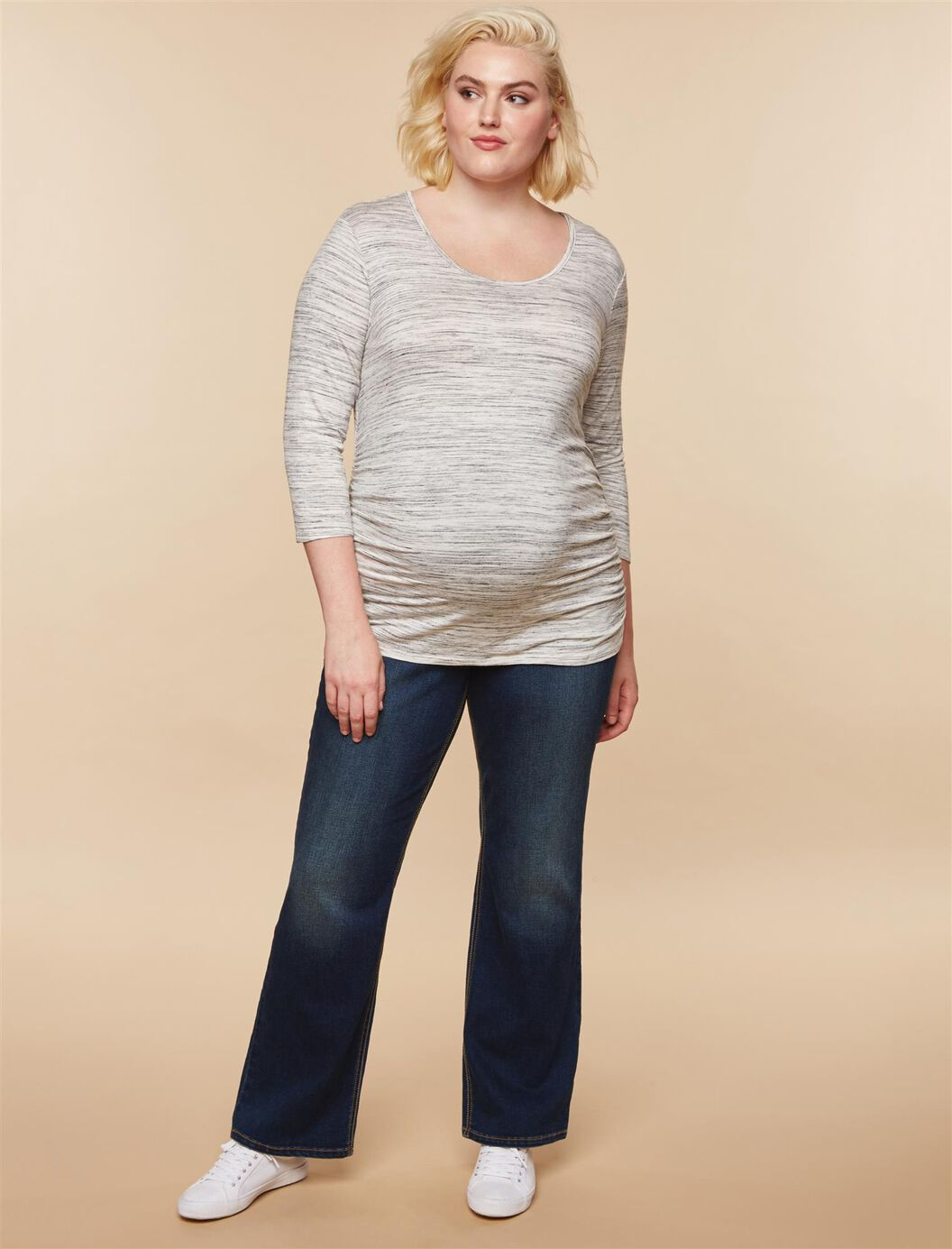 Jessica Simpson Plus Size Secret Fit Belly Dark Boot Maternity Jeans at Motherhood Maternity in Victor, NY | Tuggl