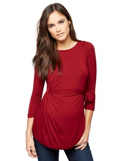 Pietro Brunelli Milano Vermont Maternity Top, Red