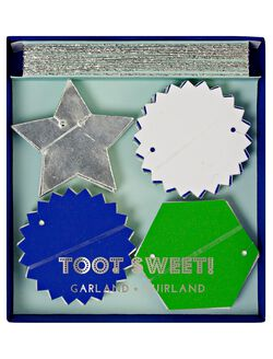 Meri Meri Toot Sweet Mini Garland, Blue