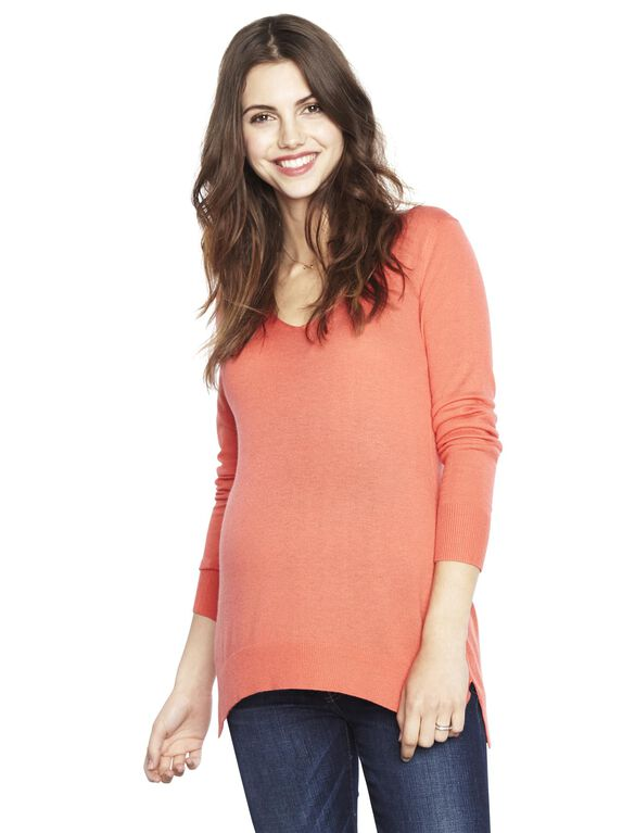 Splendid Maternity Sweater, Blaze