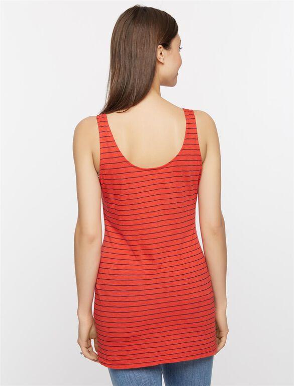 Splendid Relaxed Fit Maternity Tank Top, Fiery Red Stripe