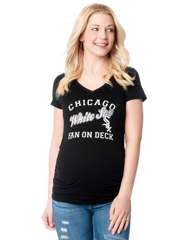 Chicago White Sox MLB Short Sleeve Maternity Graphic Tee, White Sox