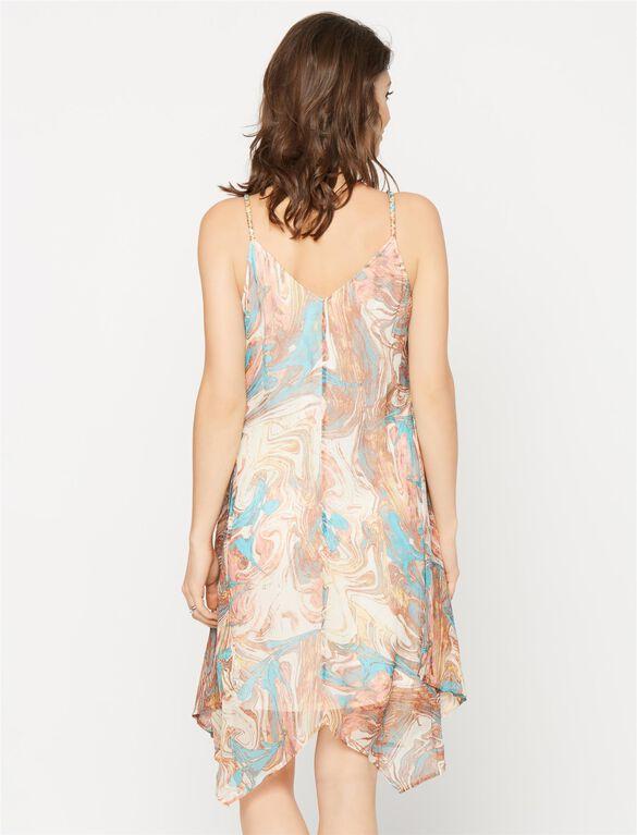 Ella Moss Bias Cut Maternity Dress, Multi Print