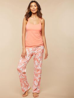Maternity Sleep Pants, Palm Print