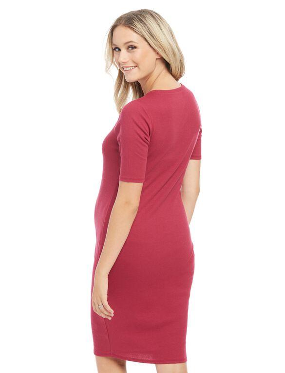 Bumpstart Lightweight Maternity Dress- Solid, Zin
