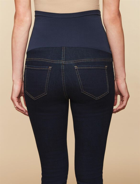 Secret Fit Belly Stretch Skinny Maternity Jeans, Dark Wash