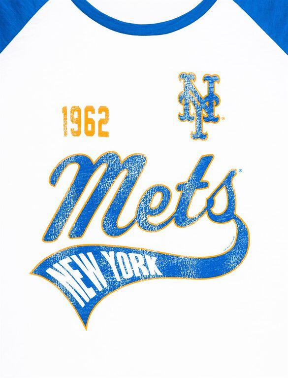 New York Mets MLB Raglan Sleeve Maternity Tee, Mets