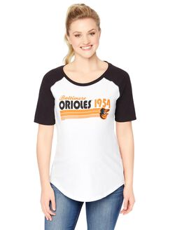 Baltimore Orioles MLB Elbow Sleeve Maternity Graphic Tee, Orioles