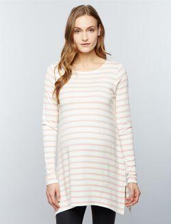 Super Soft Maternity Sweatshirt, Stripe Pink/Cream