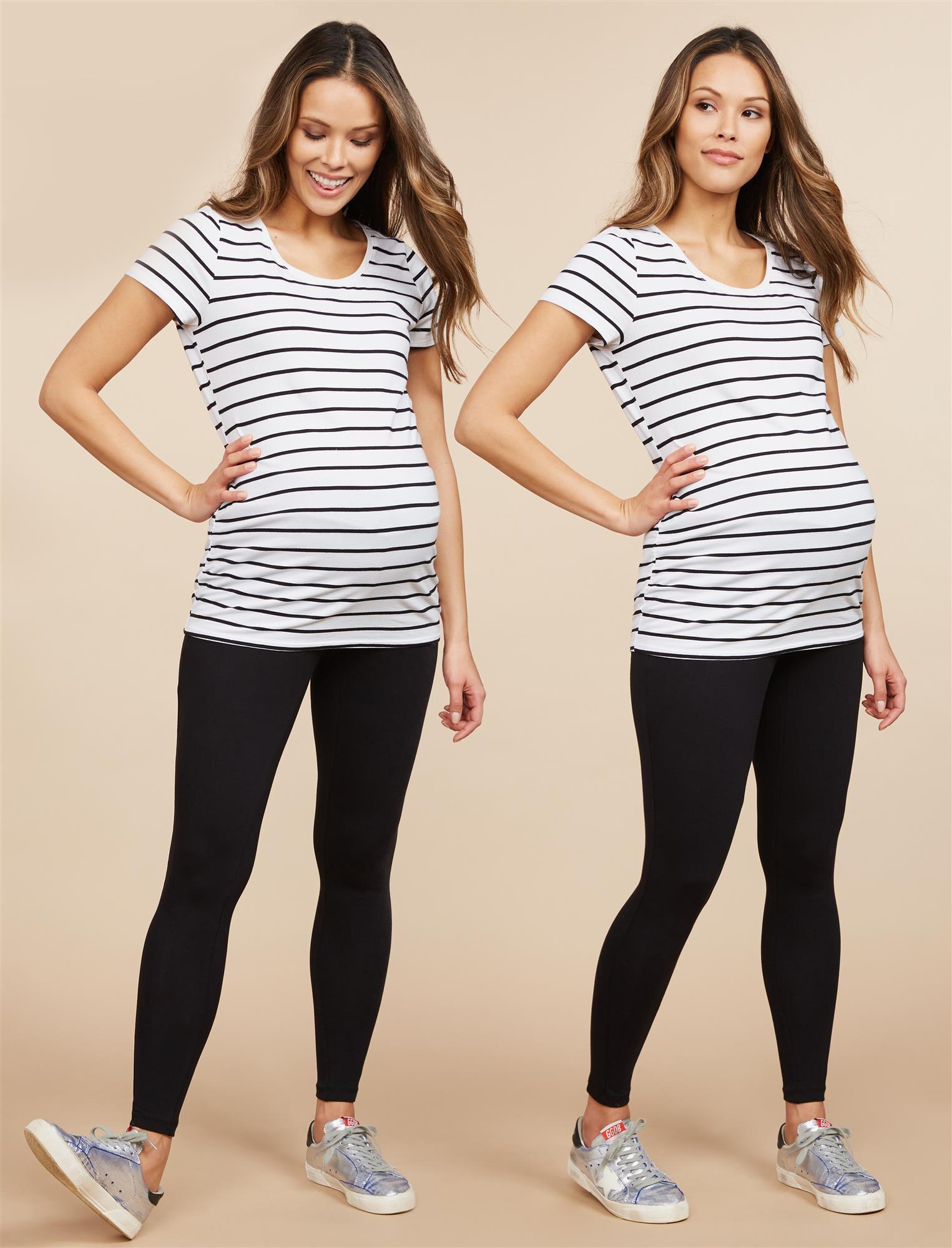 BumpStart Under Belly Maternity Leggings (2 Pack)- Solids