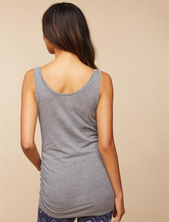 Kickin' It Racerback Maternity Tank Top- Grey, Black 1