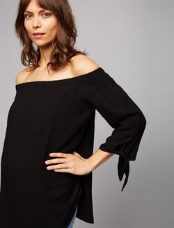 Isabella Oliver Caiti Off The Shoulder Maternity Top, Black