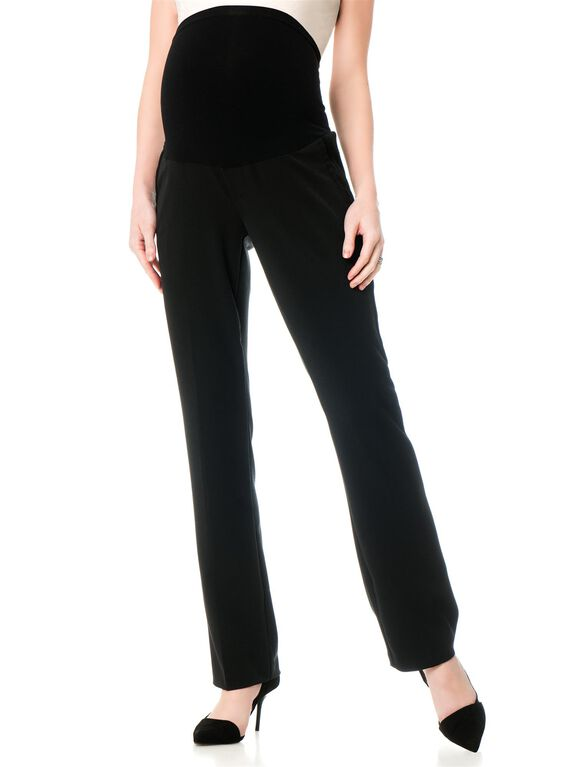 A Pea In The Pod Bi-stretch Suiting Bootcut Maternity Pants, Black
